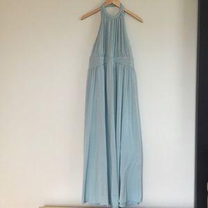 Torrid column gown in sea blue green maxi